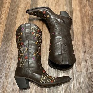 Roper boots Women's size 9 Floral Pattern